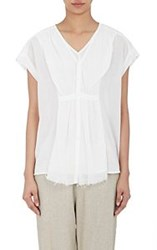 Pas De Calais Layered V Neck Shirt White