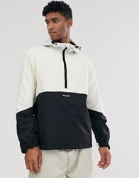 Element Primo Pop Overhead Windbreaker Jacket In White Black
