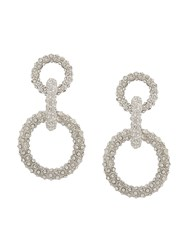 Ca And Lou Gio Long Crystal Earrings Silver