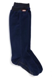 Hunter Original Tall Long Fitted Boot Sock Blue