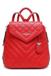 Michael Michael Kors Woman Blakely Quilted Leather Backpack Red