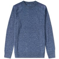 Blue Blue Japan Shoulder Patch Crew Knit Blue