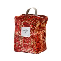 Mulberry Home Lomond Velvet Door Stop Red And Plum