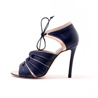 Porthia Sonya Sandals Navy And Baby Pink Blue Nude Neutrals
