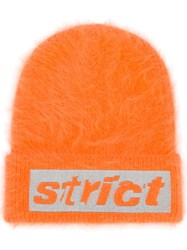 Alexander Wang Strict Embroidered Beanie Yellow And Orange