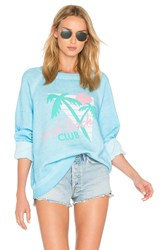 Wildfox Couture Vip Member Top Blue