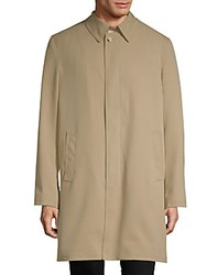Saks Fifth Avenue Classic Cotton Raincoat Tan