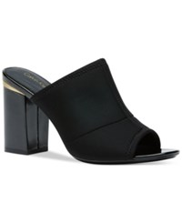 Calvin Klein Women's Cice Slide On Mules Women's Shoes Black Neoprene