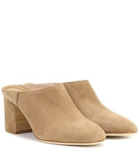 Tod's Suede Mules Beige