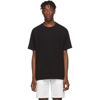 Paa Black Embroidered Pocket T Shirt