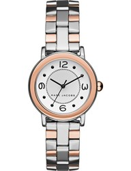Marc Jacobs Riley Two Tone Silver And Rose Gold Watch