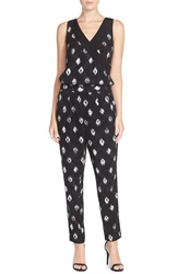 Nydj 'Milly' Print Jumpsuit Woodblock Batik