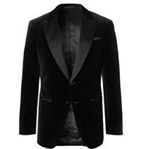 Hugo Boss Black Slim Fit Satin Trimmed Cotton Velvet Tuxedo Jacket Black