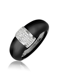 A Z Collection Black Bangle Bracelet