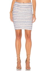 Velvet By Graham And Spencer Kipp Stripe Texture Knit Pencil Skirt White