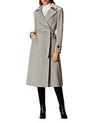 Karen Millen Long Line Coat Gray
