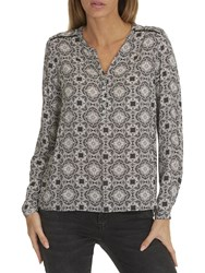 Betty Barclay Graphic Print Blouse Black Taupe