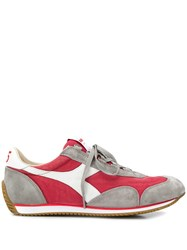 Diadora Contrasting Panel Sneakers Red