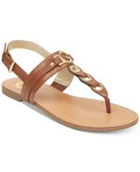 G By Guess Lesha Flat Sandals Women's Shoes Maple Leather