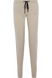 Chinti And Parker Cropped Wool Cashmere Blend Track Pants Sand