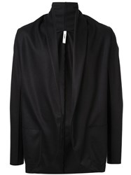 Attachment Open Front Cardigan Black