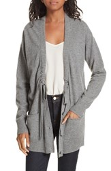 Brochu Walker Bray Cashmere Cardigan Heather Grey