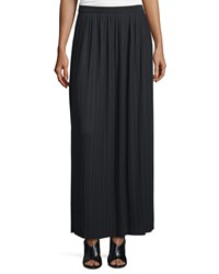 Joan Vass Long Pleated Skirt Black Women's