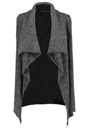 Vila Viriva Cardigan Dark Grey Melange Mottled Dark Grey