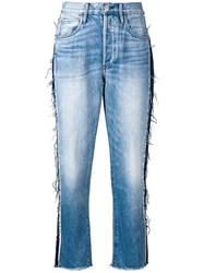 3X1 Regular Cropped Jeans Blue