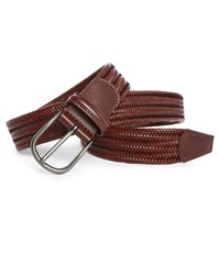 Andersons Brown Elastic And Leather Belt