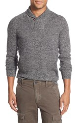 Men's Eddie Bauer 'River Rock Ilaria Urbinati Collection' Trim Fit Shawl Collar Pullover Sweater Carbon