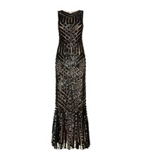 Jovani Aztec Embellished Column Gown Female Black