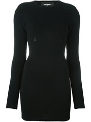 Dsquared2 Knit Bodycon Dress Black