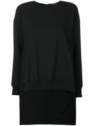 Y's Sweater With Long Reverse Style Black
