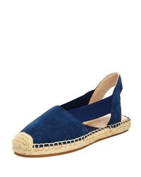 Botkier Henry Cutout Suede Slingback Espadrille Navy