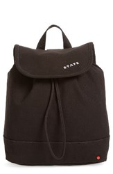State Bags Park Slope Hattie Canvas Backpack Black