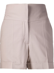 Maison Martin Margiela High Waisted Shorts Nude And Neutrals