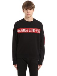 Alpha Industries Rbf Printed Cotton Terry Sweatshirt