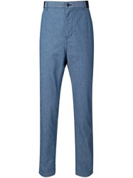 Sacai Chambray Trousers Blue