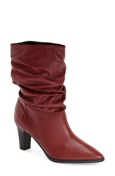 Adrianna Papell 'Noelle' Ruched Mid Boot Women Scarlet Mestizo Leather