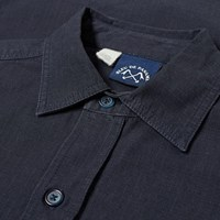 Bleu De Paname 2 Pocket Ripstop Shirt Blue