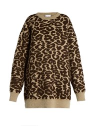 Raey Oversized Leopard Jacquard Mohair Blend Sweater