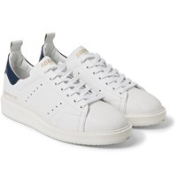 Golden Goose Deluxe Brand Starter Contrast Trimmed Perforated Leather Sneakers White