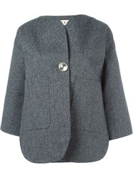 Marni Single Button Blazer Grey