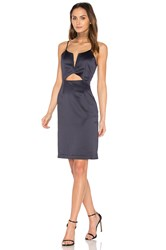 J.O.A. Cutout Mini Dress Blue