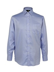 Skopes 24 7 Mode Regular Fit Cotton Shirt Blue