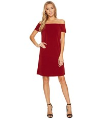 Bishop Young Bare Shoulder Dress Burgundy