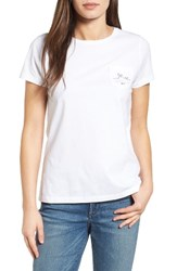 Vineyard Vines Women's Easter Whale Crewneck Tee White Cap