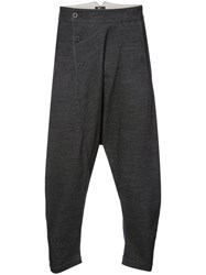 Lost And Found Ria Dunn Asymmetric Dropped Crotch Trousers Grey