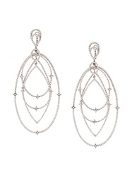 Loree Rodkin Spherical Star Drop Diamond Earrings Metallic